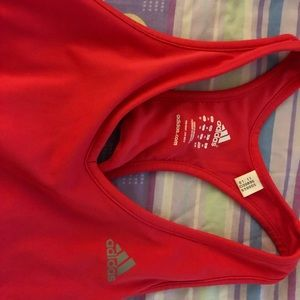 Neon pink Adidas work out tank